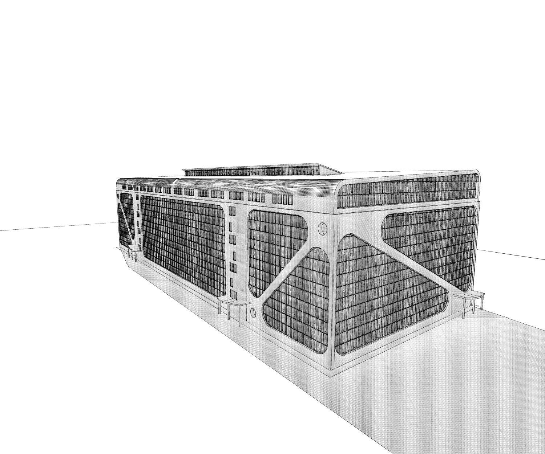 Реконструкция фасадов торгово-