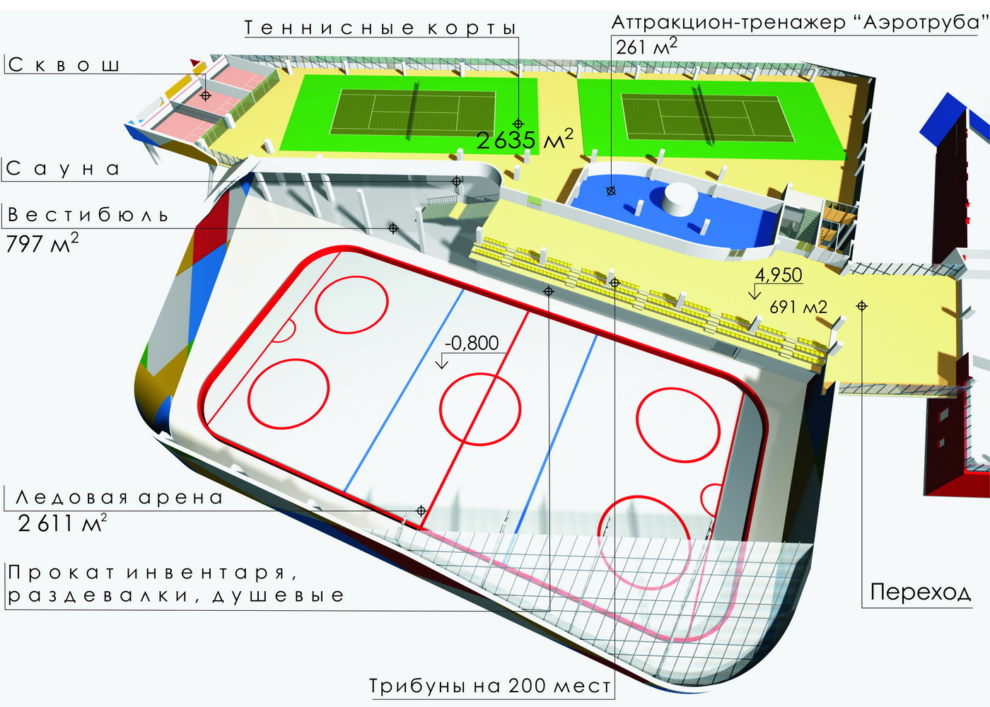 Развлекательный центр АКВАПАРКА 2 эт