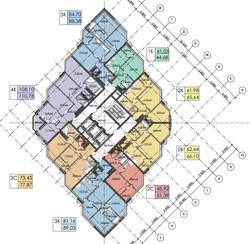 План 22-24  этажей