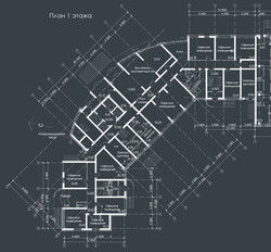 План 1 этажа высотной части