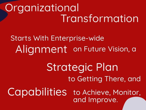 Organizational Transformation... What It Takes To Get It Right!