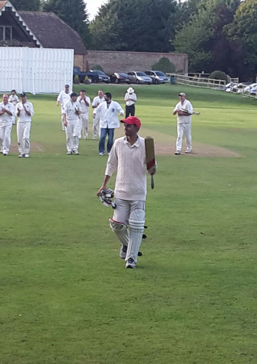 Shorbo Nag after his unbeaten ton