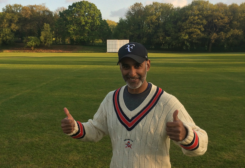 Captain Adnan Mohammed celebrates victory