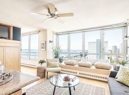 Downtown living with a view of the Puget Sound!