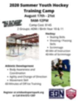 2020 Summer Youth Hockey Training Camp -