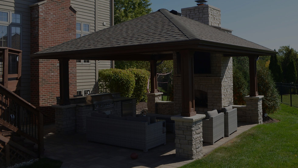 Fireplace, Gazebo, Grill, Entertainment Center, Natural Stone