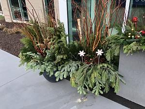 Planter, Christmas Design