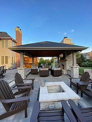 Gazebo, Fireplace, Firepit, Brick Patio, Unilock, Natural Stone