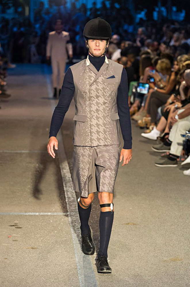 "Alberto Carniel walking for the stylist Gianmarco Barnes at ""Fashion at IUAV"""