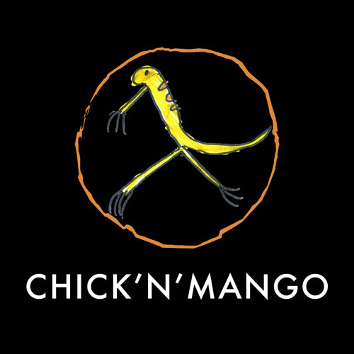 Chick'n'Mango's square logo on a black background