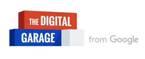 This is The Digital Garage logo on a white background. The Digital Garage is a digital marketing course powered by Google which teaches you fundamental best practices to operate online.