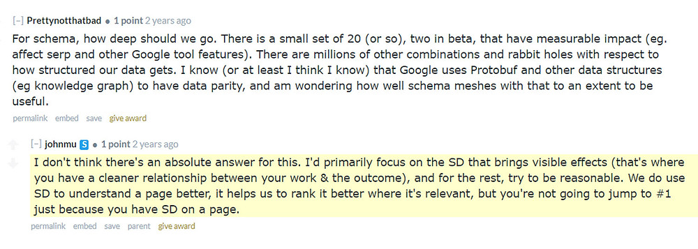 John Mueller explains Schema markups on Reddit AMA