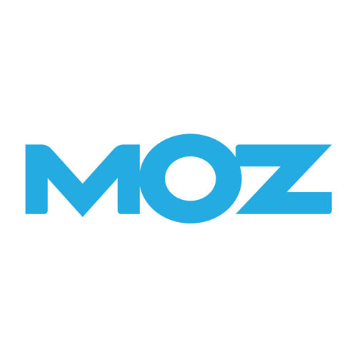 Moz's logo on a white background. Moz is a SEO software and provides tools and resources for a smarter marketing.