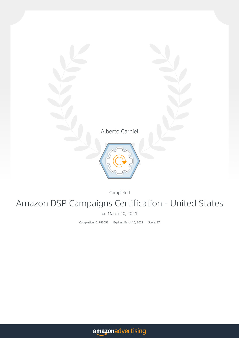 Amazon DSP Campaigns Certification