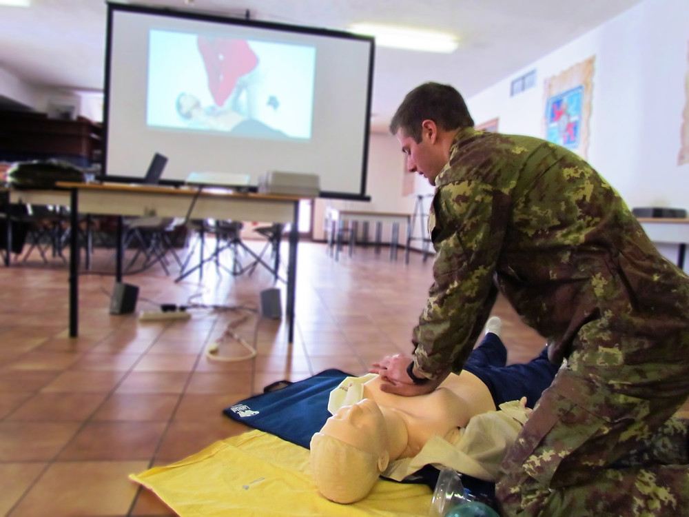 Italian Red Cross army Basic Life Support training course
