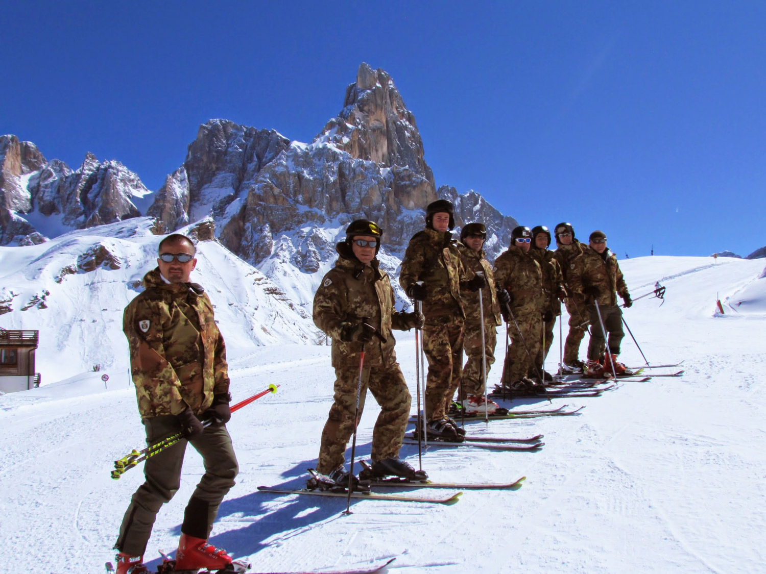 Italian Red Cross army mountain rescue training course