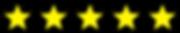 5 yellow stars Google reviews