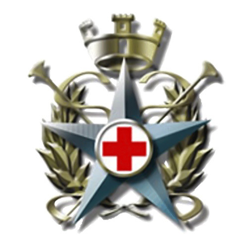 Military Corps of the Red Cross badge logo on a white background