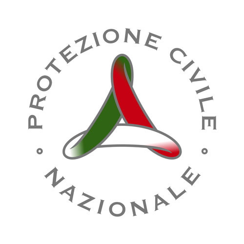 Italian National Civil Protection square logo on a white background