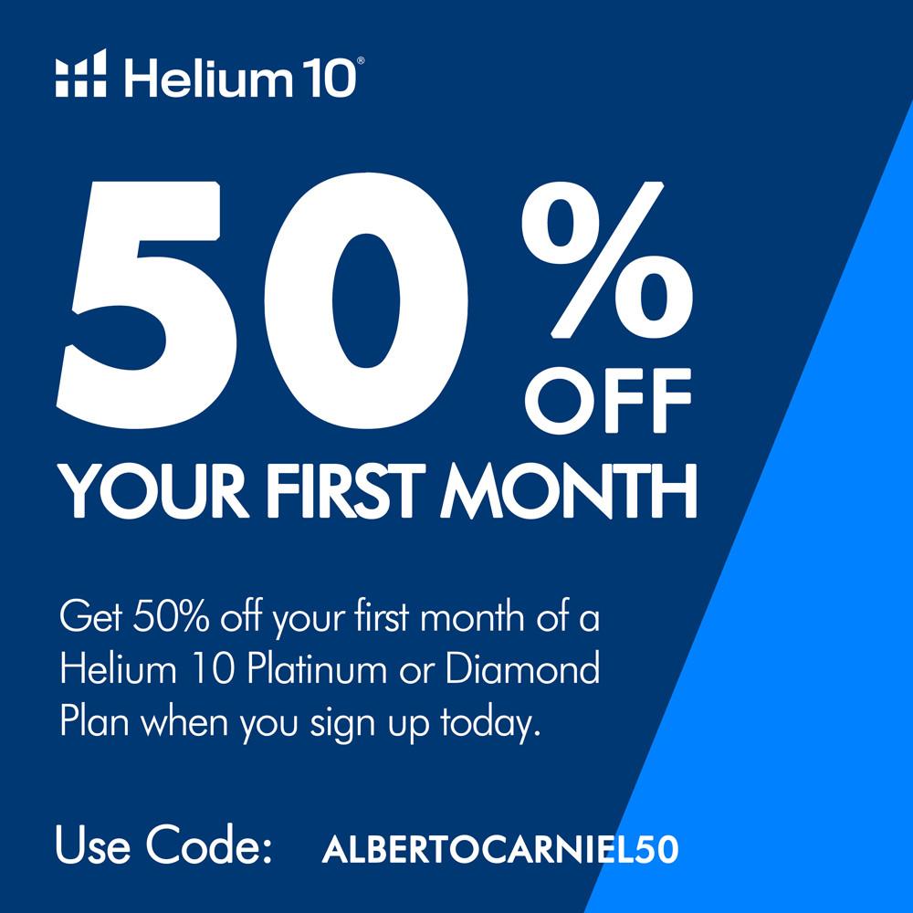 Helium 10 discount 50% off