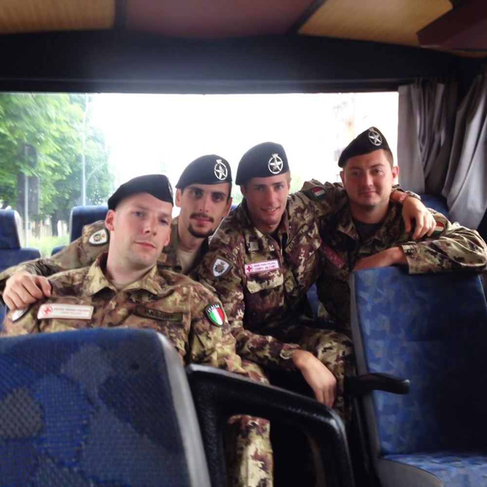 """Militaries on a bus during the """"Operational readiness"""" course"""