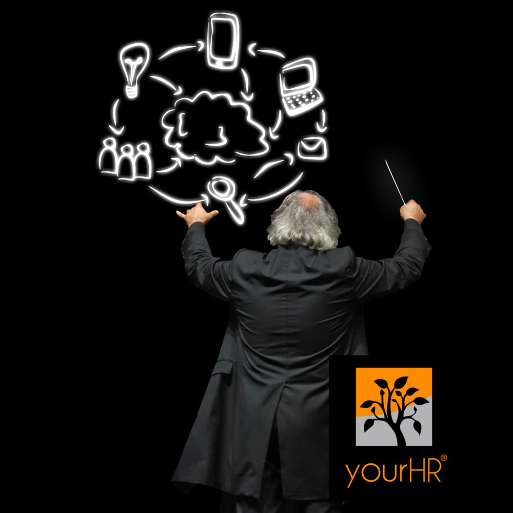 A startup controller of yourHR is like an orchestra conductor