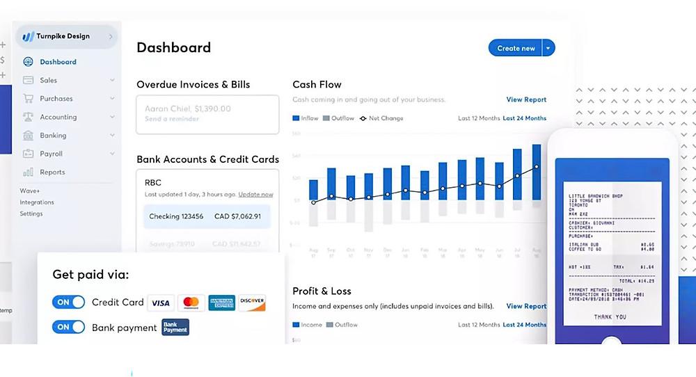 Wave Financial main dashboard