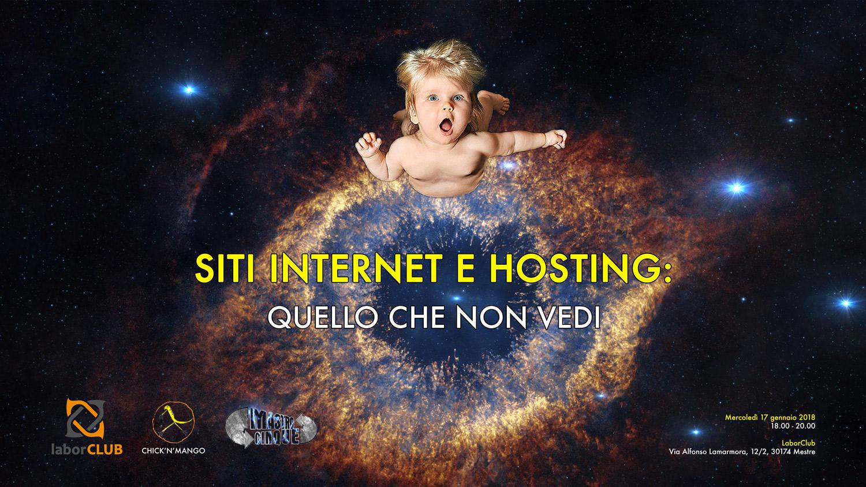 """Evento: """"Siti internet e hosting: quello che non vedi"""""""