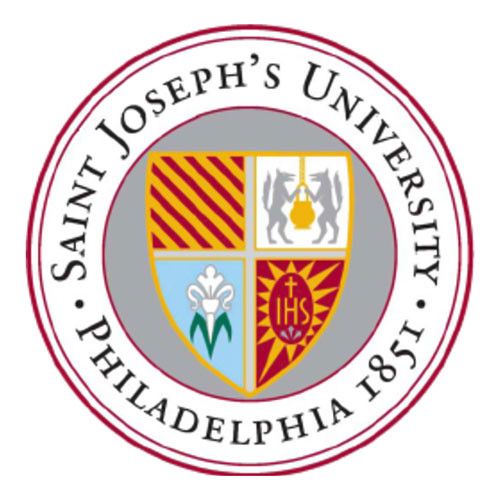 This is the Saint Joseph's University official seal on a white background. It is often used as the SJU logo in many relevant occasions.