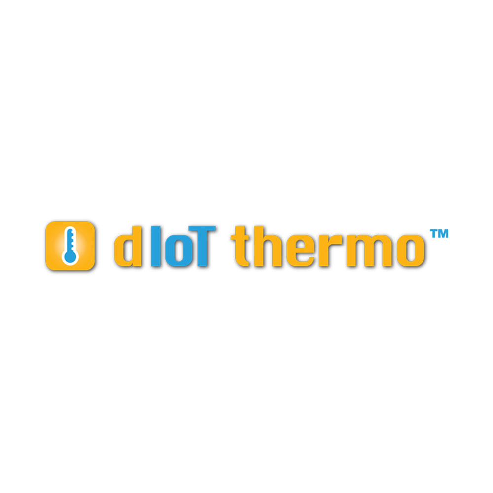 dIoT thermo square logo on a white background