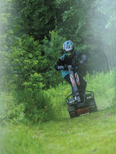 Riding can be a little tricky at first, but quickly becomes addicting.
