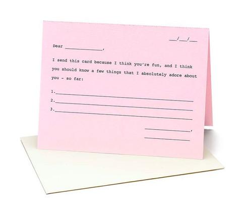 3 Things I Like About You Karma Card