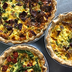 Sausage and Five Cheese Quiche - Full Size