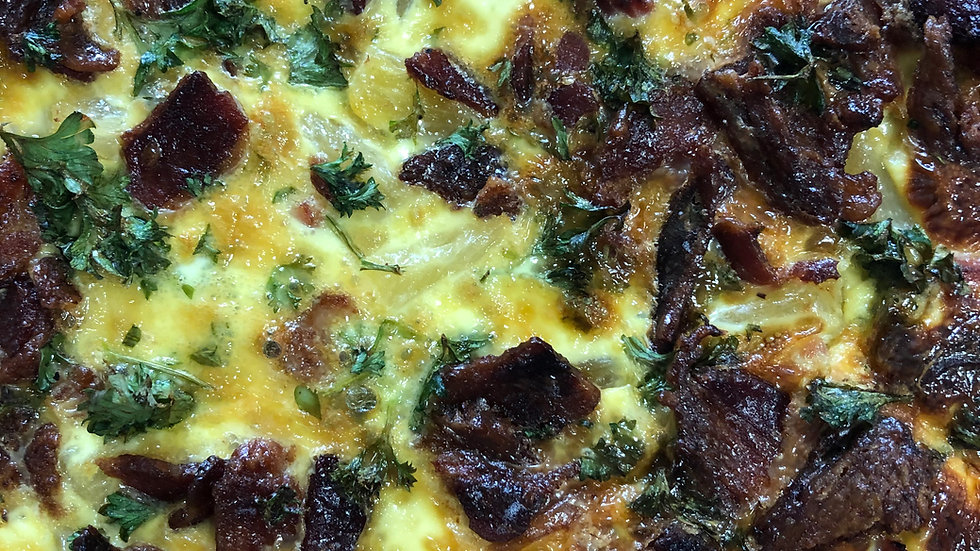 Sausage and Five Cheese Quiche - Individual