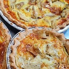 Artichoke Heart Brie and Swiss Quiche - individual