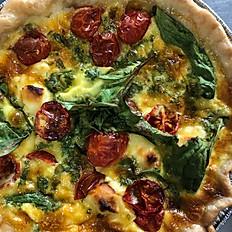 Spinach Feta and Tomato Quiche - Full size