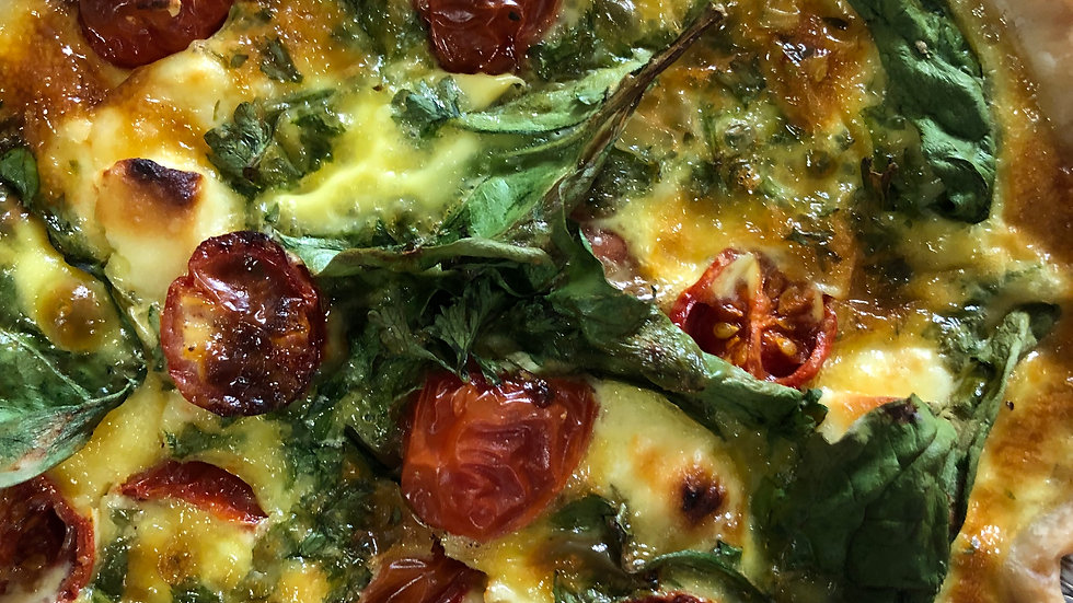 Spinach Feta and Tomato Quiche - Individual