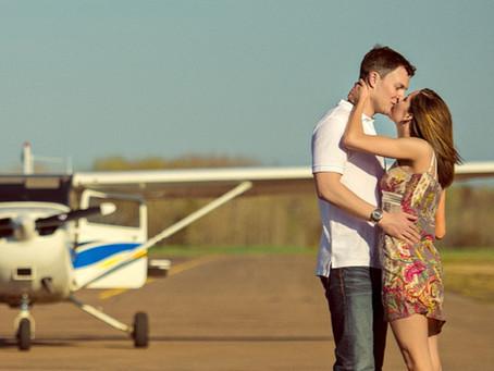 Романтический полет на самолете в Киеве