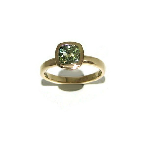 Lime Green Sapphire Ring