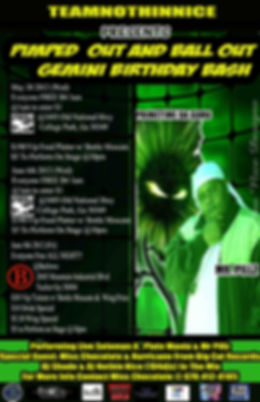 Dj Nothin Nice Promo Flyer for Prime Time The Guru aka Crispy T by Nothin Nice Designs