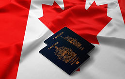 passports of Canada on the top of an sat