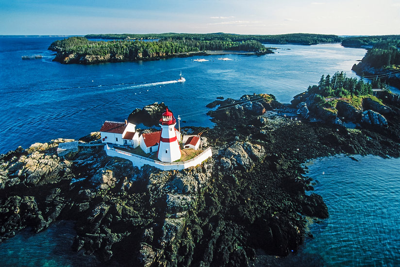 Aerial of Campobello Island, New Brunswi