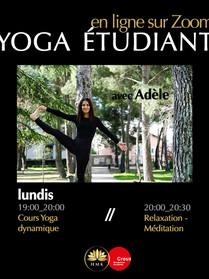 Lundi Yoga dynamique - étudiant crous - avec Adèle