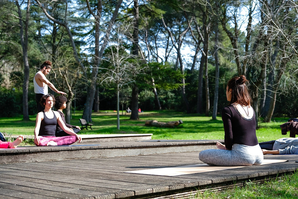 yoga hmk hoomakaana au parc de l'aiguelongue a Montpellier