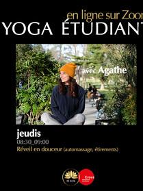 Jeudi Yoga étudiant crous avec Agathe