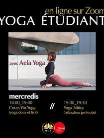 Mercredi Yoga étudiant crous avec Aela