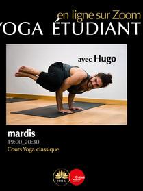 Mardi Yoga étudiant crous avec Hugo