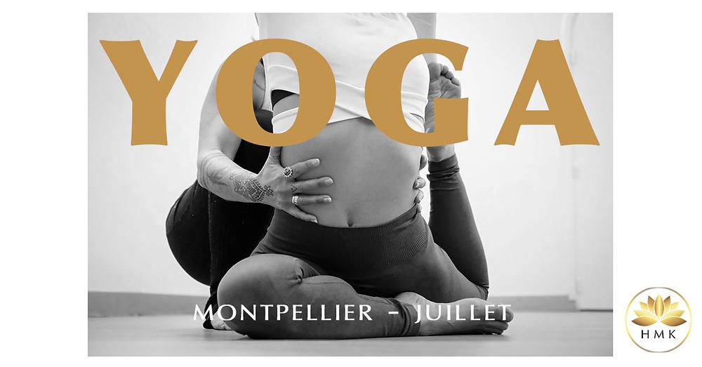 Yoga Montpellier HMK juillet au studio cours