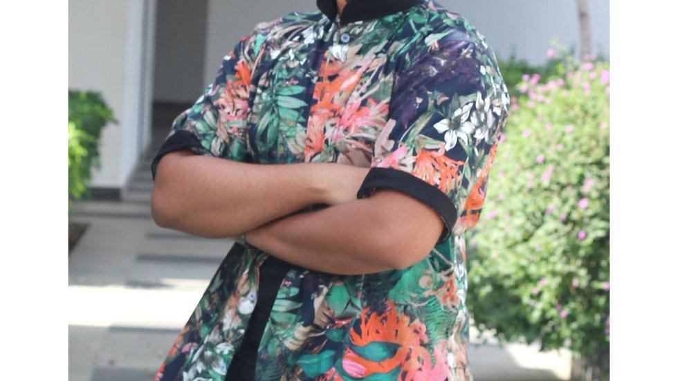 Tropical Printed Shirt(Black)