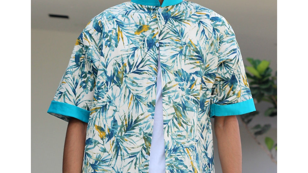 Tropical Printed Shirt(Green)